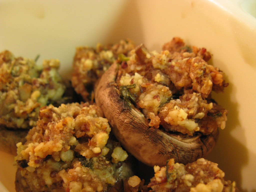 healthy stuffed mushroom recipe